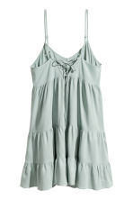 Lyocell-blend tiered dress - Dusky green - Ladies | H&M 3