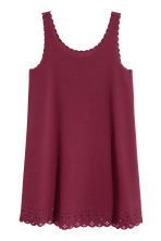 Crêpe dress - Burgundy - Ladies | H&M CN 2
