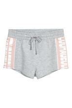 Short sweatshirt shorts - Grey marl - Ladies | H&M CN 2
