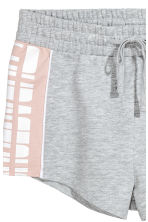 Short sweatshirt shorts - Grey marl - Ladies | H&M CN 3
