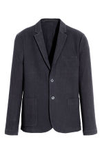 Seersucker jacket Slim fit - Dark blue - Men | H&M CA 2