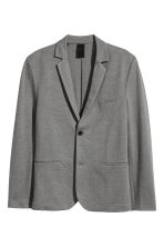 Jersey jacket Slim fit - Grey marl - Men | H&M 2