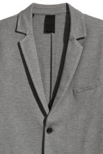 Jersey jacket Slim fit - Grey marl - Men | H&M 3