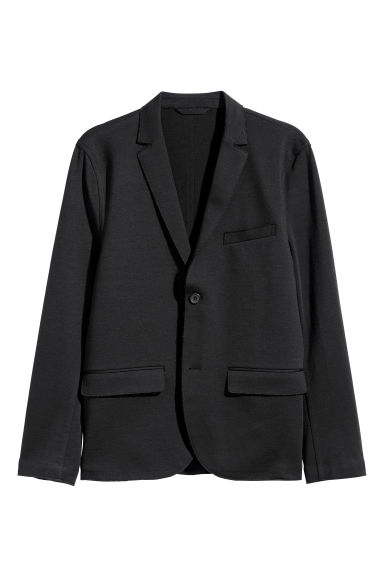 Jersey jacket Slim fit - Black - Men | H&M