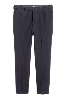 Seersucker trousers Slim fit