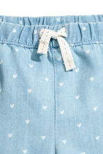 Pull-on cotton trousers - Light blue/Hearts - Kids | H&M 2