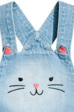 Dungaree shorts - Light denim blue - Kids | H&M CN 2
