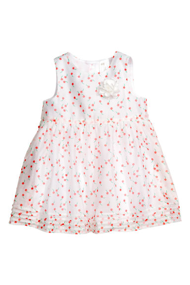 Sleeveless dress - White/Patterned - Kids | H&M