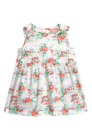 Patterned cotton dress - White/Floral -  | H&M 1