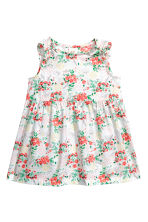 Patterned cotton dress - White/Floral - Kids | H&M CN 1