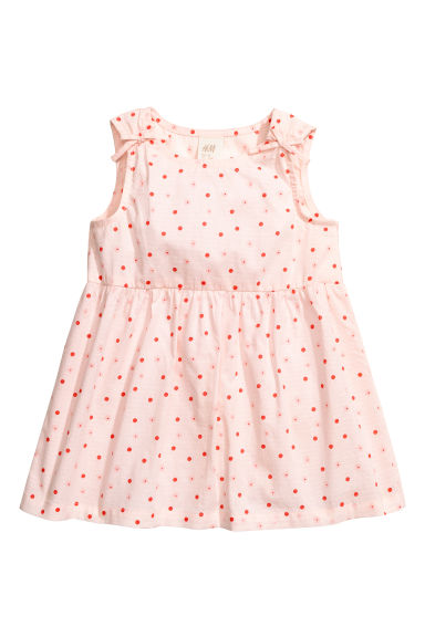 Patterned cotton dress - Light pink - Kids | H&M 1