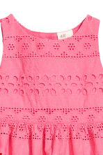 Embroidered cotton dress - Raspberry pink - Kids | H&M 2