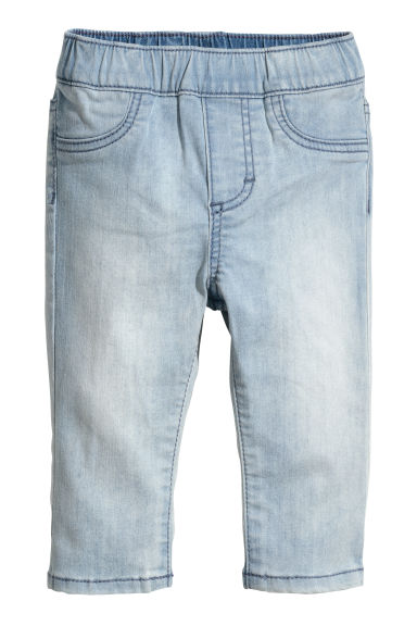 Denim leggings - Light blue - Kids | H&M 1