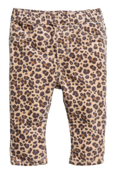 Denim leggings - Leopard print - Kids | H&M 1