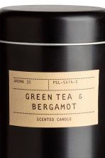 Geurkaars in metalen blik - Zwart/Green tea & Bergamot - HOME | H&M BE 3