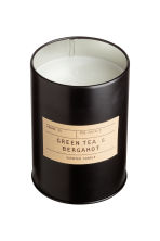 Geurkaars in metalen blik - Zwart/Green tea & Bergamot - HOME | H&M BE 2