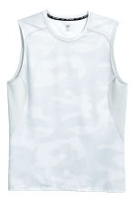 Sports vest top - White/Patterned - Men | H&M 2