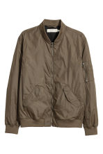 Nylon bomber jacket - Khaki - Men | H&M CN 2