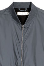 Nylon bomber jacket - Dark grey - Men | H&M 3