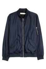 Nylon bomber jacket - Dark blue - Men | H&M 2