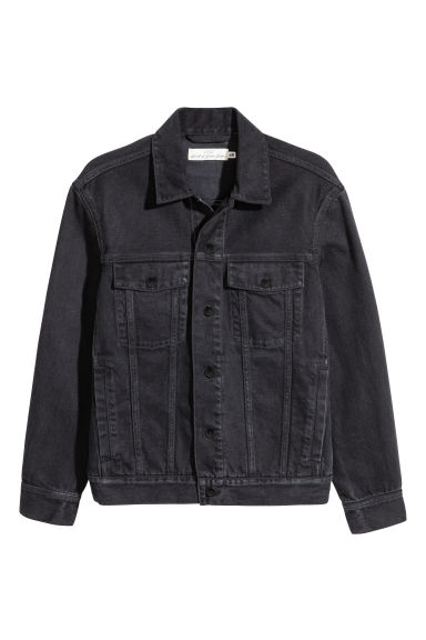 Denim jacket - Black denim - Men | H&M CN 1