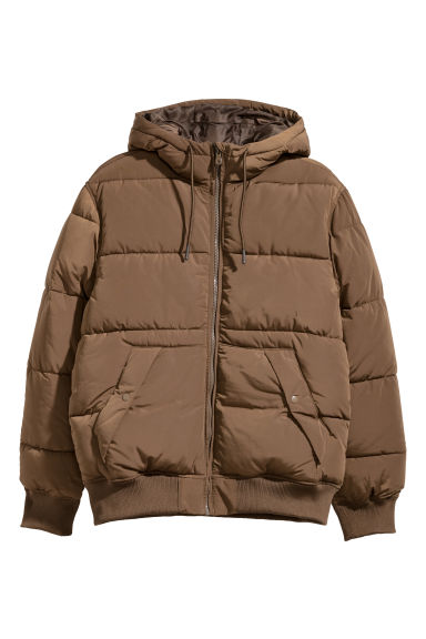 Padded jacket - Khaki brown - Men | H&M 1