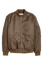 Padded bomber jacket - Dark khaki green - Men | H&M 2