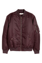 Padded bomber jacket - Burgundy - Men | H&M 2
