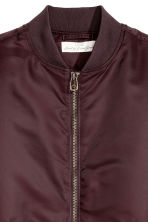 Padded bomber jacket - Burgundy - Men | H&M 3