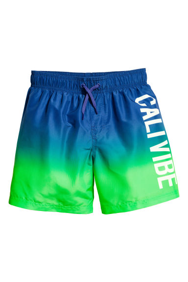 Printed swim shorts - Cornflower blue - Kids | H&M CN