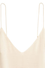 V-neck top - Light beige - Ladies | H&M 3