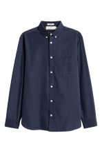 Cotton shirt Regular fit - Dark blue - Men | H&M 2