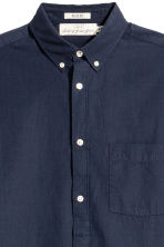 Cotton shirt Regular fit - Dark blue - Men | H&M 3