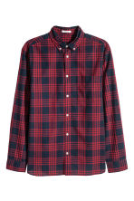 Cotton shirt Regular fit - Red/Checked - Men | H&M CN 2