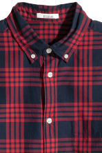 Cotton shirt Regular fit - Red/Checked - Men | H&M CN 3