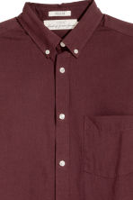 Cotton shirt Regular fit - Burgundy - Men | H&M CA 3