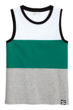 Printed vest top - Green/Striped - Kids | H&M 2