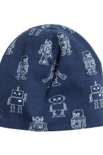 Hat and Tube Scarf - Dark blue/Robot - Kids | H&M 3