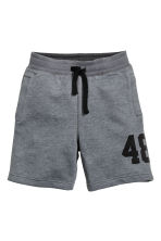 Printed sweatshirt shorts - Dark grey - Kids | H&M CA 2