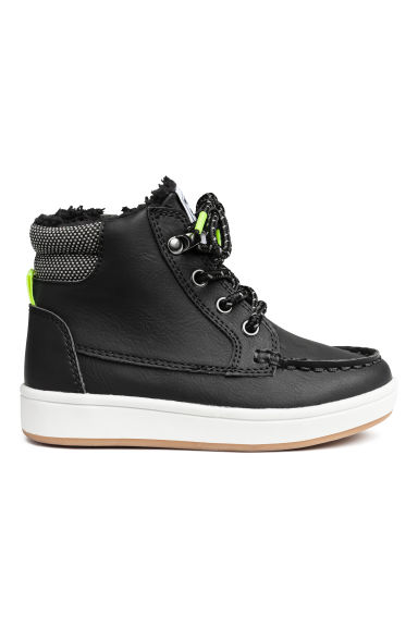 Warm-lined hi-tops - Black -  | H&M 1