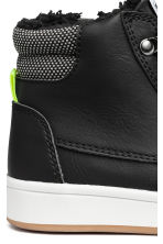Warm-lined hi-tops - Black -  | H&M 4