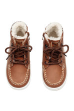 Warm-lined hi-tops - Brown -  | H&M CN 3