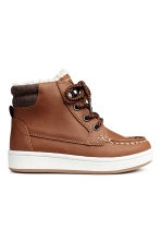 Warm-lined hi-tops - Brown -  | H&M CN 2