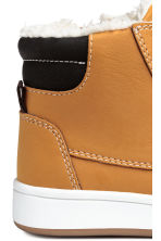 Warm-lined hi-tops - Dark yellow -  | H&M 4