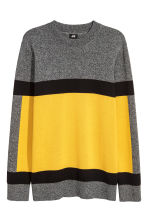 Knitted jumper - Dark grey/Yellow - Men | H&M GB 2