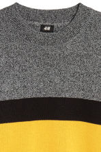 Knitted jumper - Dark grey/Yellow - Men | H&M GB 3