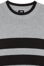 Knitted jumper - Grey marl/Black - Men | H&M CA 3