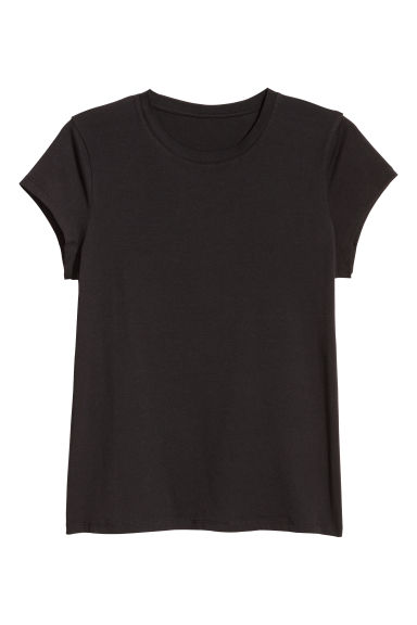 H&M+ T-shirt in jersey - Nero - DONNA | H&M IT