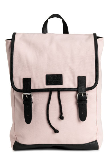 Cotton canvas backpack - Powder pink - Ladies | H&M 1
