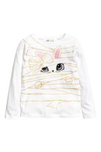 Jersey top with a print motif - White/Rabbit - Kids | H&M CN 2